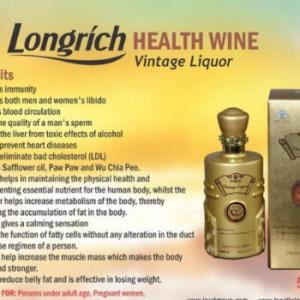 LONGRICH NATURAL HEALTH VINTAGE WINE